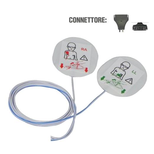 Piastre/Elettrodi per defibrillazione (compatibili)