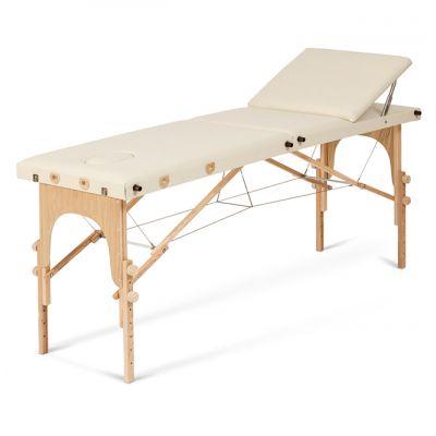 Lettino in legno pieghevole FLEX - Piano da cm 62, regolabile in altezza