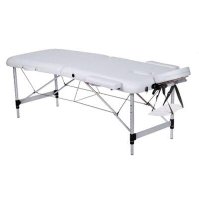 Lettino Pieghevole Da Massaggio.Lettino Da Massaggio A 2 Sezioni Bianco In Alluminio