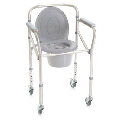 sedia comoda con ruote pieghevole