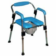 Sedia comoda/doccia imbottita senza ruote
