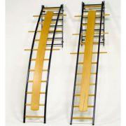 Scala ortopedica dritta in metallo e legno