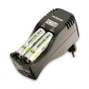 Caricabatterie medicale per 1-2 stilo AA o ministilo AAA con 4 batterie AA ricaricabili