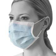 Mascherina chirurgica MEDLINE - Azzurra con elastici (conf. 50 pz)