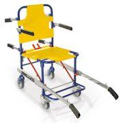 Sedia portantina a 4 ruote con pedane e braccioli QUICK 659