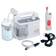 Aspiratore da emergenza V7 Plus VA a batteria/12V, Staffa Ambulanza e Vaso autoclavabile da 1 lt