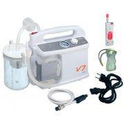 Aspiratore da emergenza V7 Plus VM a batteria/12V, Staffa Ambulanza e Sacca monouso da 1 lt