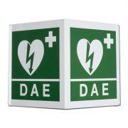 Cartello DAE per defibrillatore bifacciale