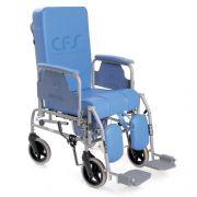 Sedia comoda KOMODA con schienale reclinabile - Ruote Ø 20 cm - RC230