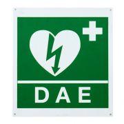 Cartello DAE per defibrillatore