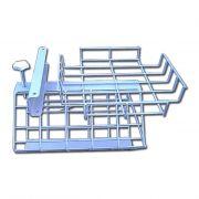 Cestello portaoggetti in acciaio per barella da corsia regolabile in altezza
