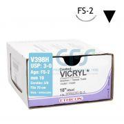 Sutura assorbibile Ethicon VICRYL V398H - USP 3-0,Ago 3/8 FS-2 mm 19 - Viola (Conf. 36 pz.)