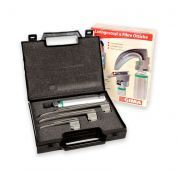 Set laringoscopio F.O. Doctor con 3 lame Miller Green GIMA 1-2-3