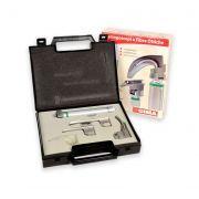 Set laringoscopio F.O. pediatrico Green GIMA con 2 lame Miller 0-1 e 1 lama Mc Intosh 0