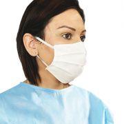 Mascherina chirurgica TNTMB 3 Strati - Bianca con elastici (conf. 25 pz)